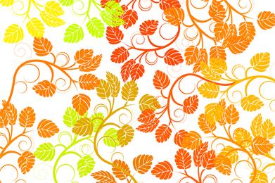 Folha de fundo colorido