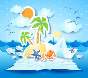 Summer Beach Background 3