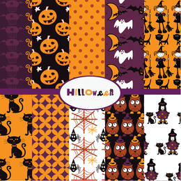 Funny set of Halloween patterns