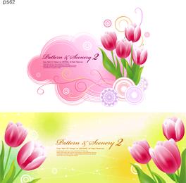 Tulpen und Vektor