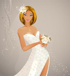 Wedding fashionable bride