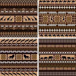 Conjunto de patrón africano