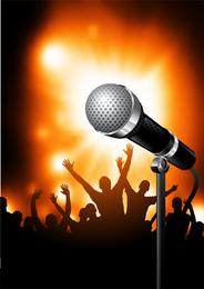 Ilustração de microfone 3D