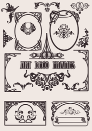 Satz von Art Deco Frames