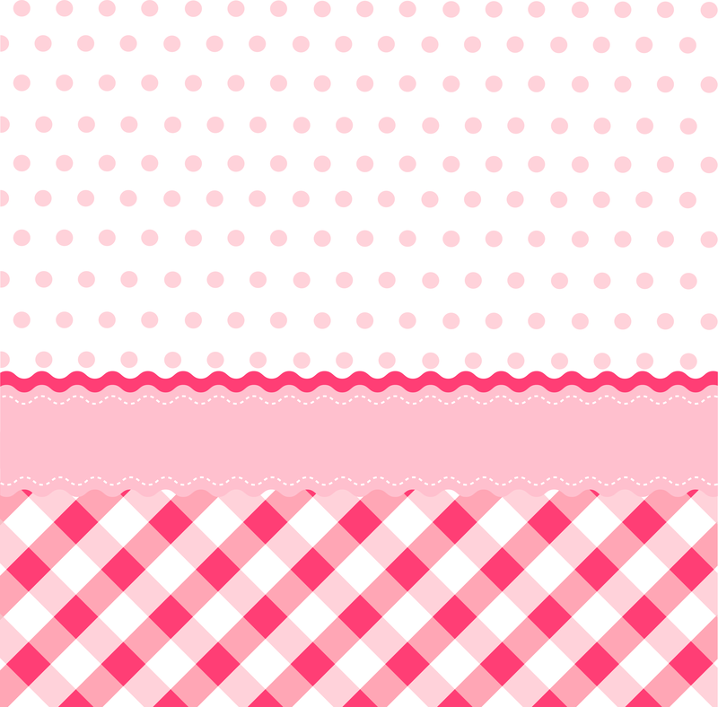 Cute pink background with patterns - Vector download
