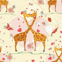 Couple of giraffes Valentine's Day