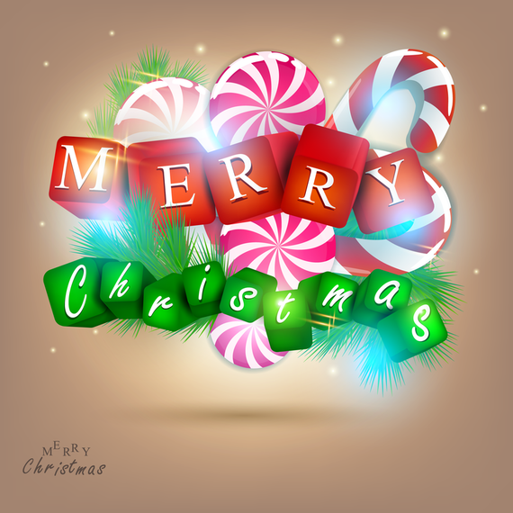 Merry Christmas with candy sign