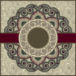 Mandala design over pattern