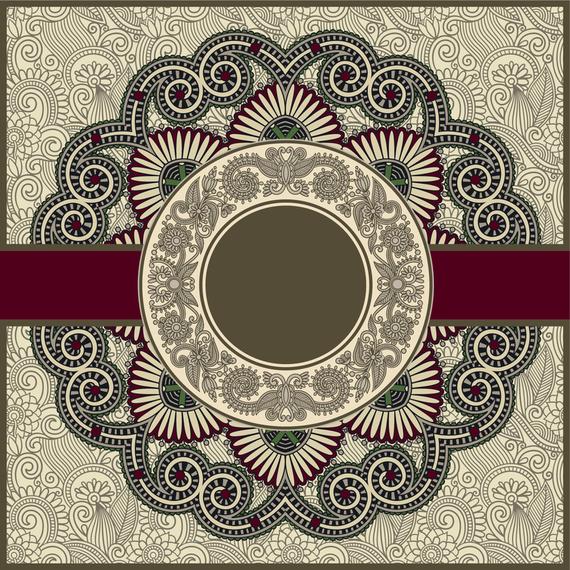 Mandala design over pattern