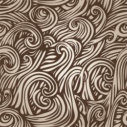 Doodled swirls design en color beige.