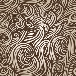 Doodled swirls design in beige