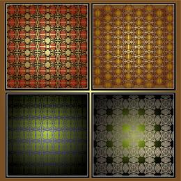 Set of 4 bright patterns