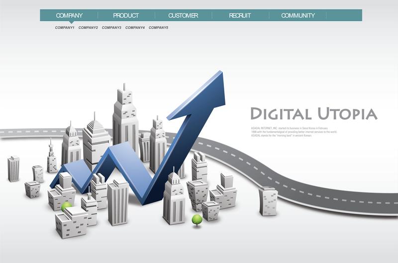 Business growth arrow design - Vector download