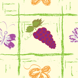 Hand painted grapes background