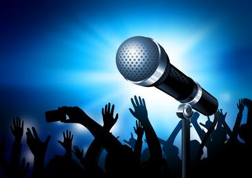 Microfone em design de concerto