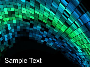 Lichter gerundet Mosaikhintergrund