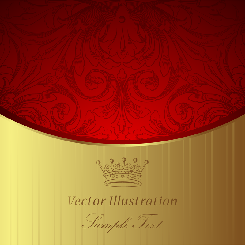 Royal red and gold background - Vector download