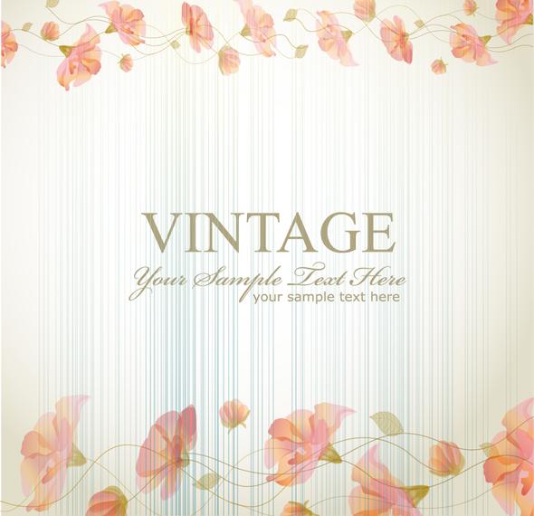 Marco de flores retro vendimia con el texto - Descargar vector