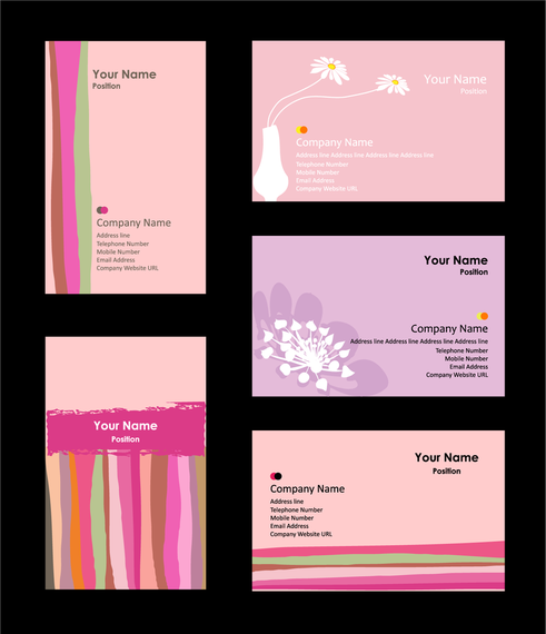 Pink Business Card Template