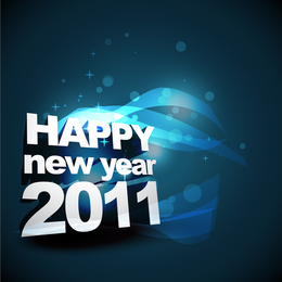 Happy New Year 2011 3D