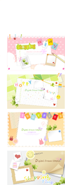 Cute stationary notes templates