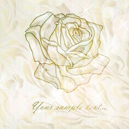 Rosa silueta ilustración
