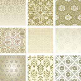 Diseños de tarjeta de patrón de oro beige