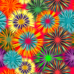 Colorful lines fireworks pattern background