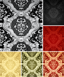 Set of 6 ornamented classical patterns