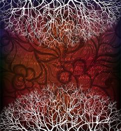 Fundo de silhueta de árvore 2