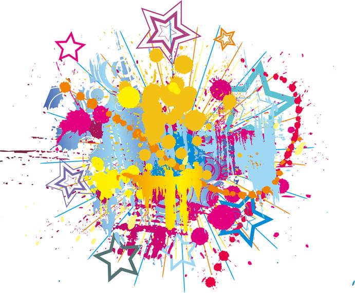 Salpicaduras de pintura brillante clipart descargar vector - Salpicaduras de pintura ...