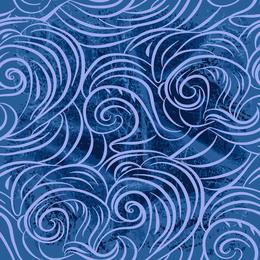 Blue and purple doodled wave design
