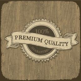Diseño de insignia de calidad premium ilustrado