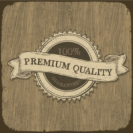 Illustrated premium quality badge design