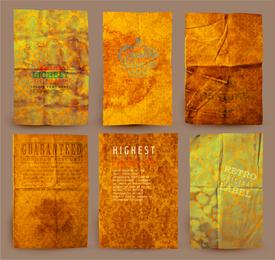 Weathered vintage papers set