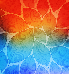Colorful leaves design