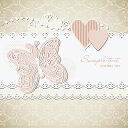 Fondo de la etiqueta de la boda