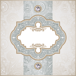 Vintage antique frame background design