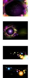 Kosmische Hintergründe und Banner