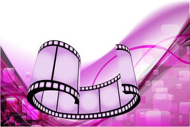 Design de filme roxo abstrato filme