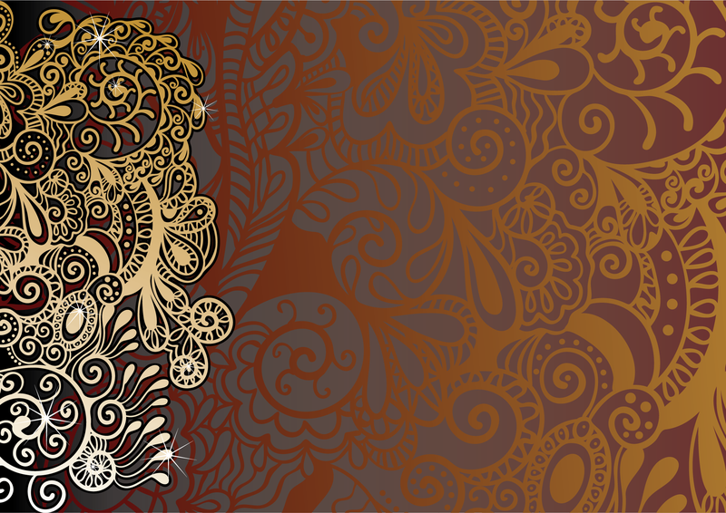 Paisley background with silhouettes - Vector download