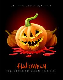 Dreadful Halloween carved pumpkin