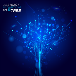Abstract blue backdrop design with wires