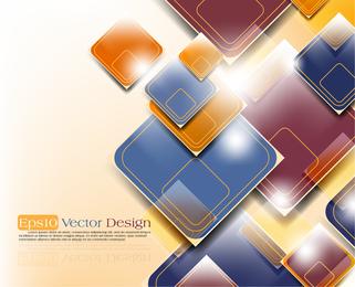 3D gerundet Hintergrunddesign der Quadrate