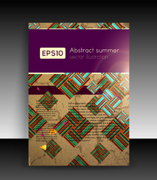 Abstract Leaflet cover