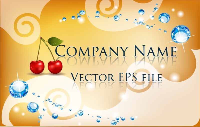 Business Card Background With Misc Elements
