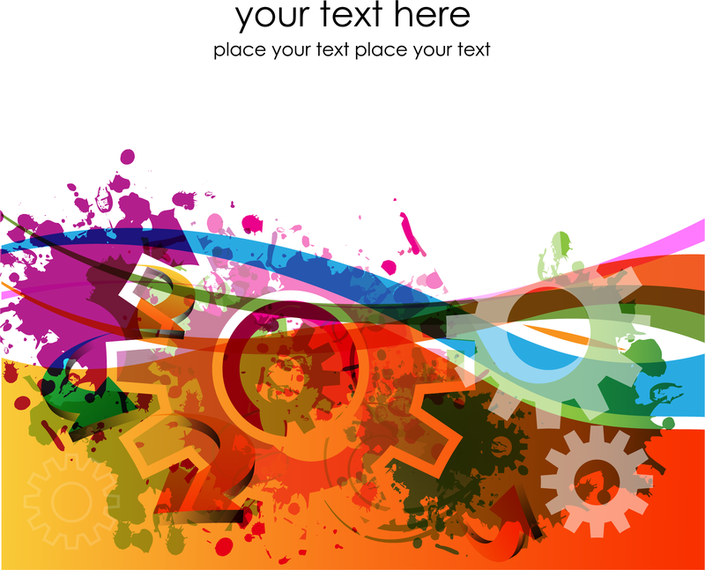 Colorful Gears Background 3 - Vector download