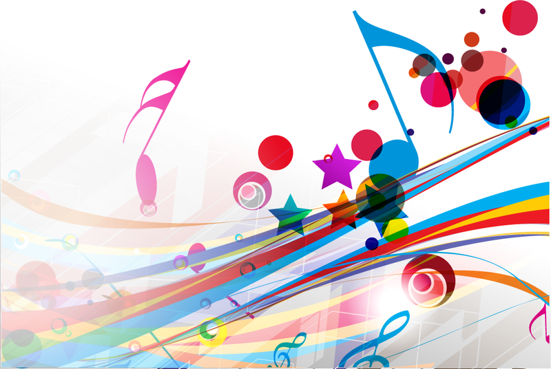 Color Notes Background 01 Vector Free Download: Musical Abstract Background