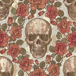 Tema del cráneo vector