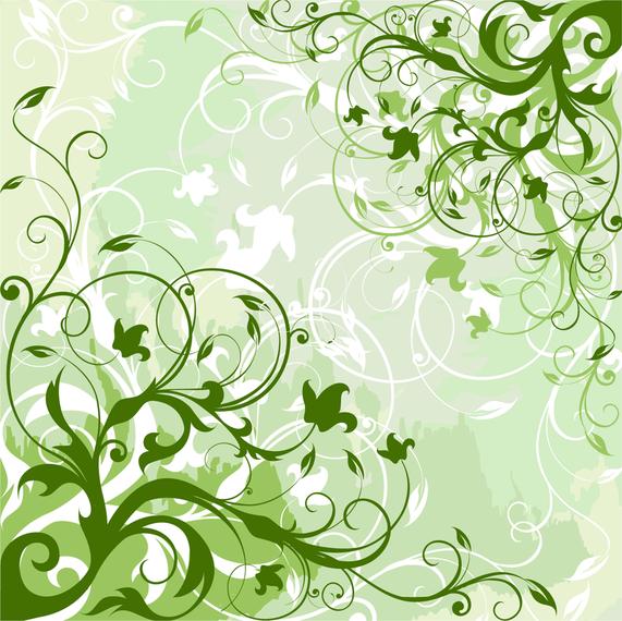 green swirls background design vector download